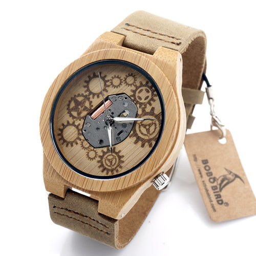 Bamboo Wood Watch Quartz