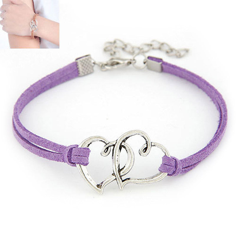 Love Heart Charm Jewelry Bracelet
