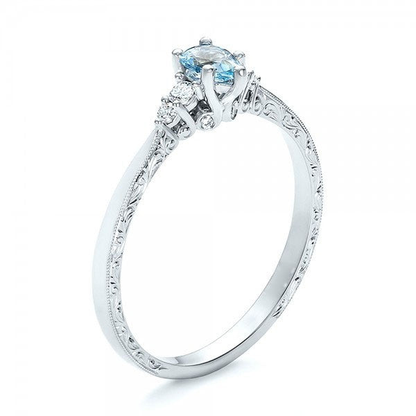 S925 Sterling Silver Aquamarine Ring