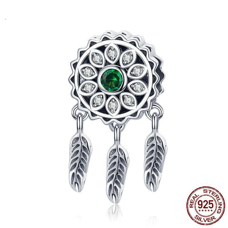 925 Sterling Silver Vintage Dream Catcher Charms