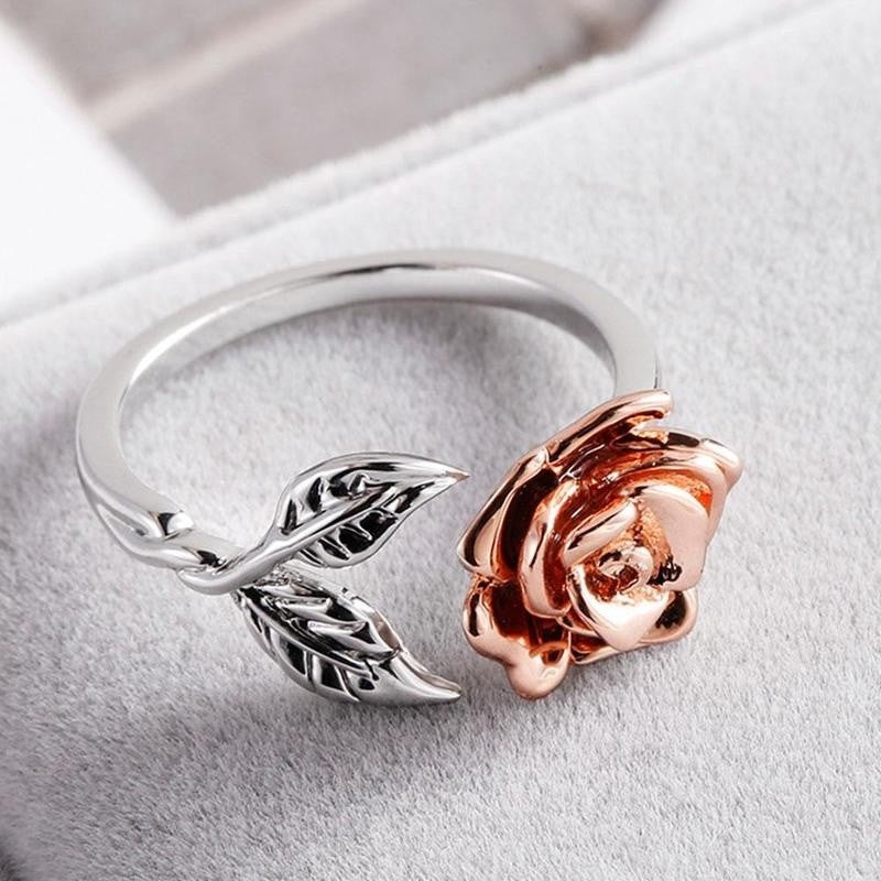S925 Silver Rose Flower Ring