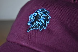 Mentality - Lion Head Classic Retro Hat (Maroon)