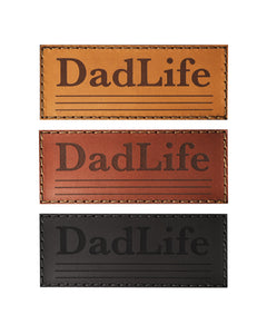 Real Leather DadLife Velcro Patch