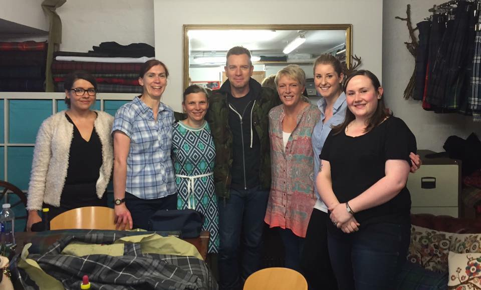 Ewan McGregor Edinburgh Kiltmaking Academy