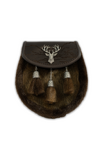 Load image into Gallery viewer, Highland Stag Semi Dress Sporran (Brown)