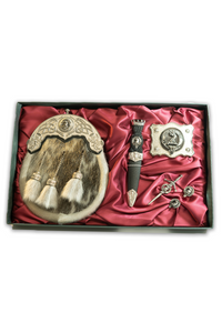 Dress Sporran Gift Set (Clan Crest)