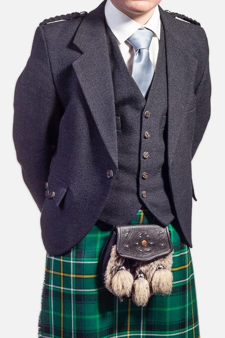Children's Charcoal Holyrood Hire Jacket & Waistcoat