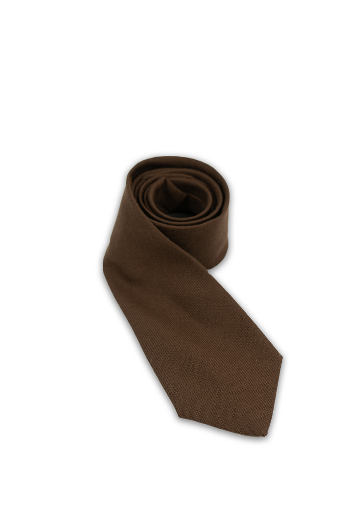 Muted Brown Wool Tie