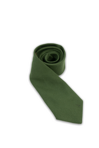 Muted Green Wool Tie