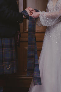 Traditional handfasting wedding ceremony