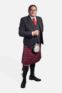 Red Nicolson Muted / Charcoal Holyrood Hire Outfit