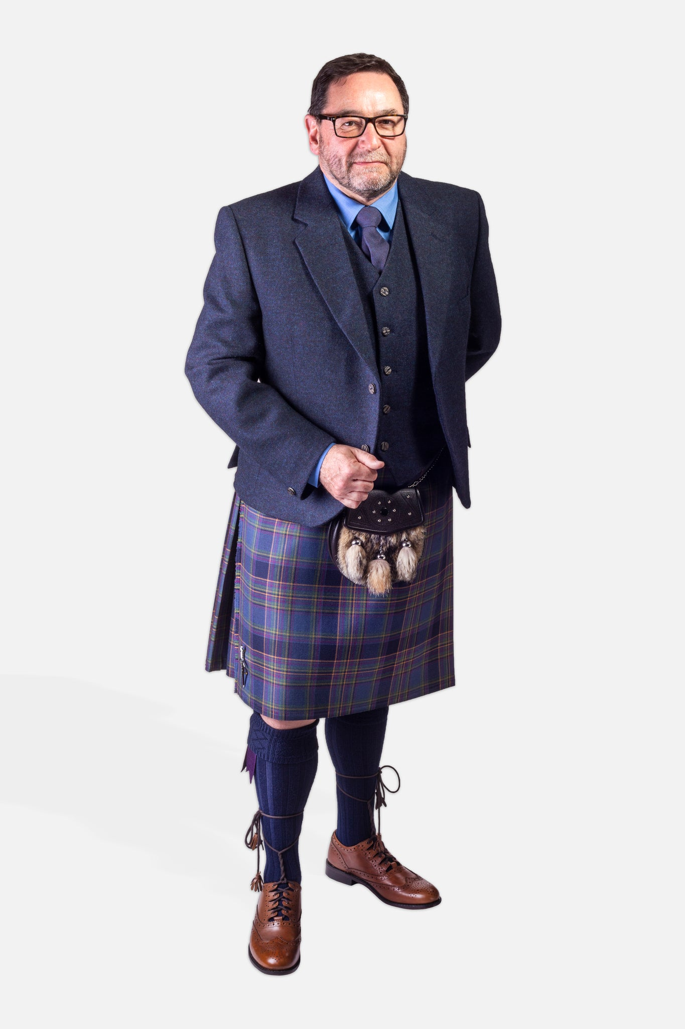 Highland Mist / Navy Tweed Hire Outfit