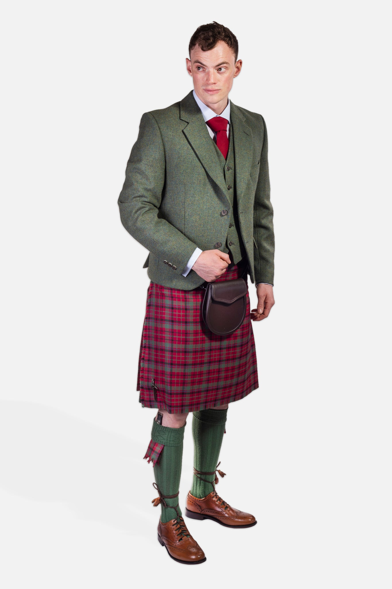 Red Nicolson Muted / Lovat Tweed Hire Outfit