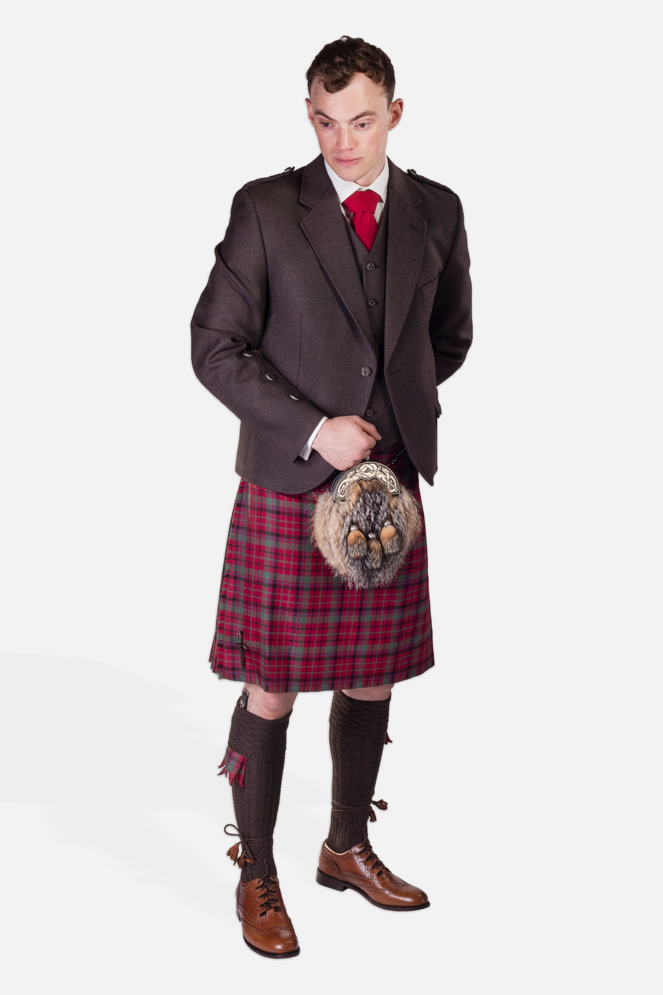Red Nicolson Muted / Peat Holyrood Hire Outfit