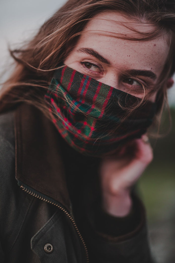 John Muir Way Tartan Facemask