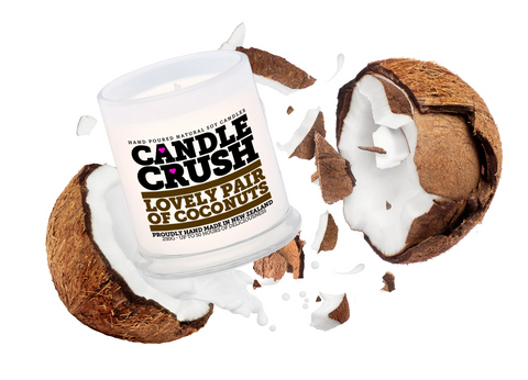 Lovely Pair of Coconuts Scented Candle