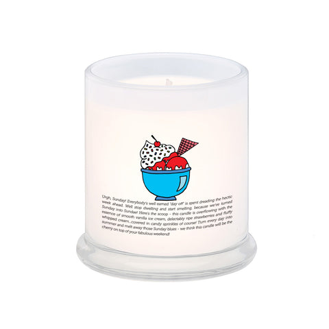 Sunny Sunday Strawberry Sundae Scented Candle