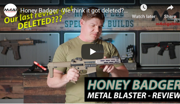 Honey Badger - We think it got deleted? (Blaster Review)