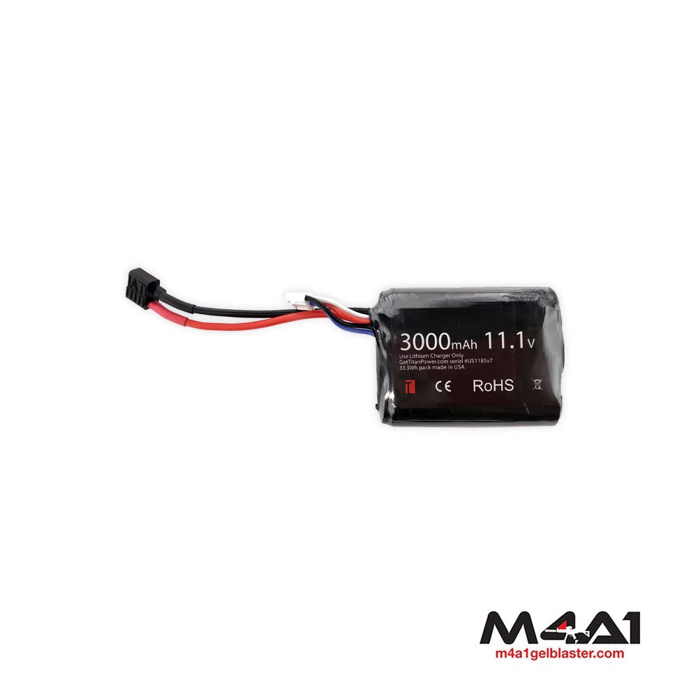 TITAN 3000mAh 11.1v Brick T-Plugs Deans Battery (1185)