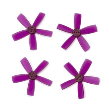 "Load image into Gallery viewer, DYS 2"" 5 Blade, Purple Propeller - Set of 4 (2x CW, 2x CCW)"