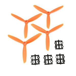 Gemfan 5x4.5 ABS Propeller - 3 Blade (Set of 4 - Orange)