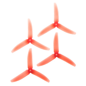 RaceKraft 5x4 Clear Tri-Blade (Set of 4 - Red)