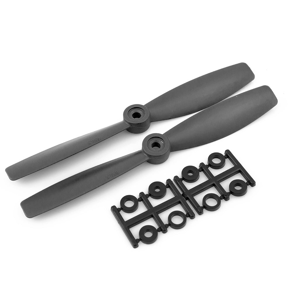 HQProp 6x4.5 CCW Bullnose Propeller - (Black Carbon Composite) - (Set of 2)
