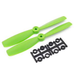 HQProp 6x4.5RG CW Bullnose Propeller - (Set of 2 - Green)