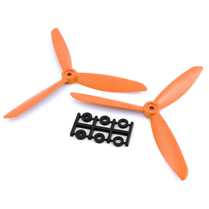 HQProp 6x4.5x3O CCW Propeller - 3 Blade (Orange - 2 pack)