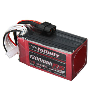 AHTECH Infinity RS Force V2 1300mah 120C 6S Lipo Battery