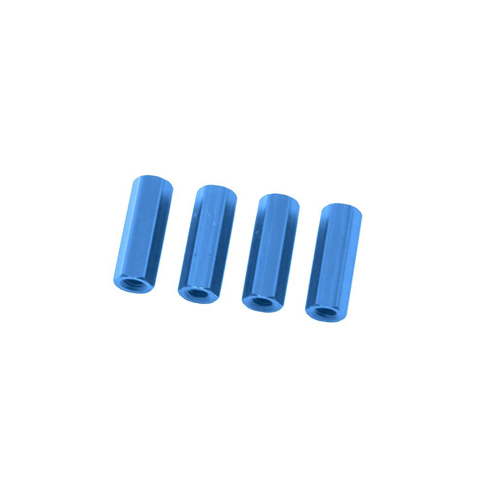 Blue Hex Standoffs 10mm (4 pcs)