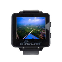 "Load image into Gallery viewer, Boscam FPV Wearable Watch 2.6"" Monitor  w/ 32CH 5.8GHz Receiver w/ Raceband"