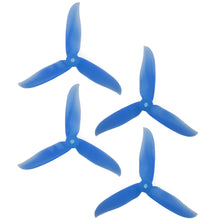 Load image into Gallery viewer, DAL 5x4.6 - 3 Blade, Crystal Blue Cyclone Propeller - T5046C  (Set of 4)