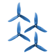Load image into Gallery viewer, DAL 5x5 - 3 Blade, Crystal Blue Cyclone Propeller - T5050C  (Set of 4)