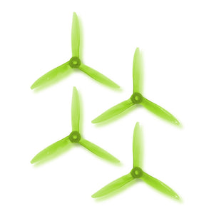 DAL 5x5 - 3 Blade, Crystal Green Cyclone Propeller - T5051C  (Set of 4)