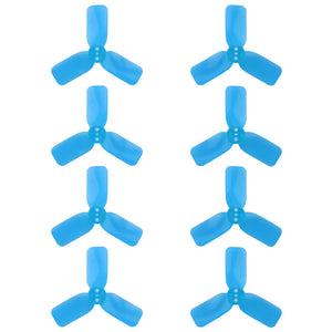 "DYS 2"" 3 Blade, Blue Propeller - Set of 8 (4x CW, 4x CCW)"