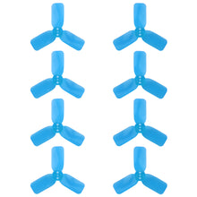 "Load image into Gallery viewer, DYS 2"" 3 Blade, Blue Propeller - Set of 8 (4x CW, 4x CCW)"