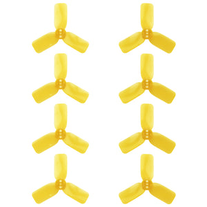 "DYS 2"" 3 Blade, Yellow Propeller - Set of 8 (4x CW, 4x CCW)"