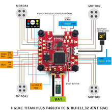 Load image into Gallery viewer, HGLRC Titan Plus F460 Stack - 60A BLHeli_32 ESC