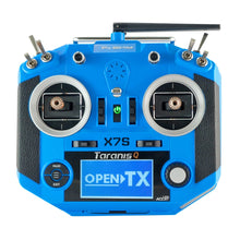 Load image into Gallery viewer, FrSky Taranis Q X7S Radio w/ Upgraded M7 Hall Sensor Gimbals (Blue)