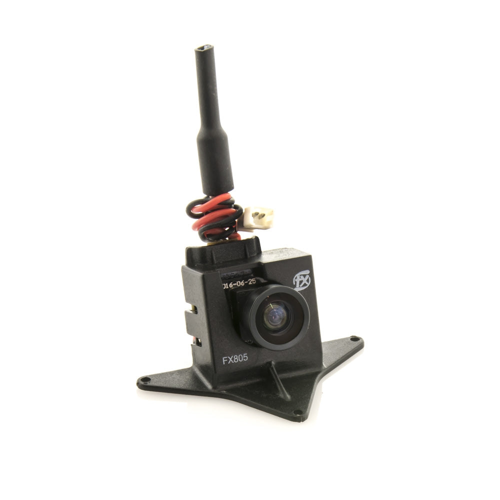 FX805 Micro FPV Camera & 5.8GHz 37CH 25mW VTX with Mounting Case (Dipole Antenna)