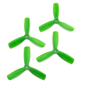 Gemfan 4x4.5 - Bullnose 3 Blade Propellers - PC UnBreakable (Set of 4 - Green)