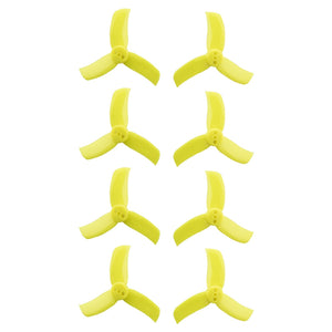 Gemfan Hulkie Yellow 2040 Durable 3 Blade - Set of 8 (4CW, 4CCW)