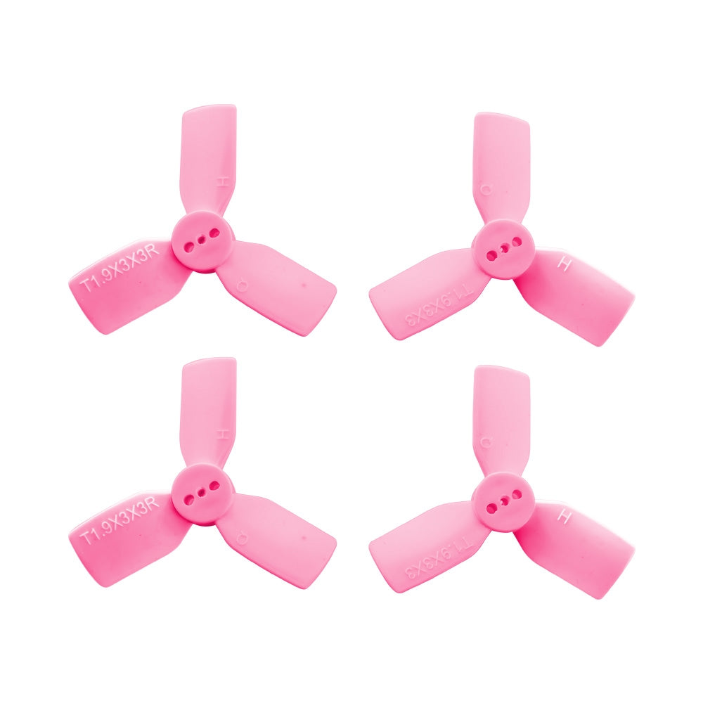 HQProp 1.9x3x3 PC Pink Quad Propeller  - Set of 4 (2x CW, 2x CCW)