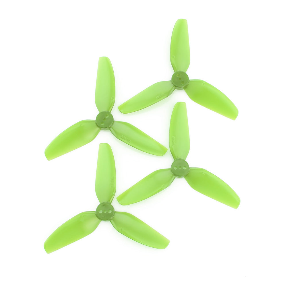 HQProp DP 3x3x3 PC Propeller - 3 Blade (Light Green - Set of 4)