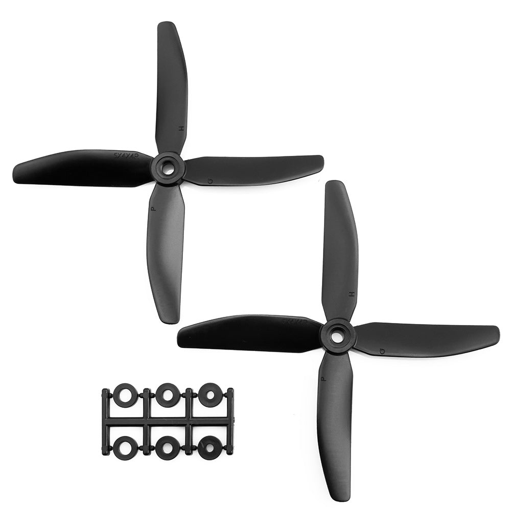 HQProp 5x4x4V1SRB CW Propeller - 4 Blade (2 Pack - Black Nylon Glass Fiber)