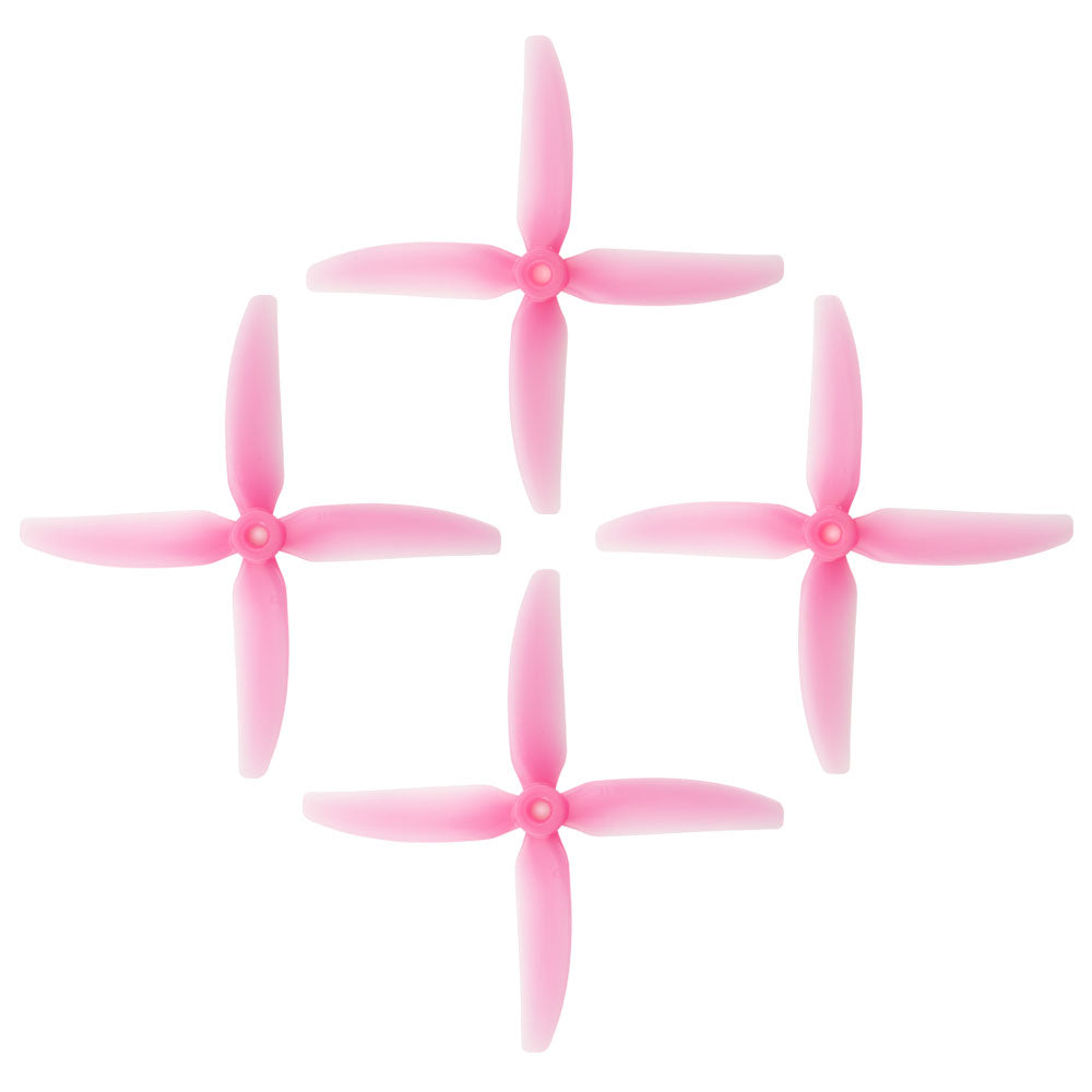 HQProp DP 5x4x4 PC V1S Light Pink Propeller - 4 Blade (Set of 4 - PC)