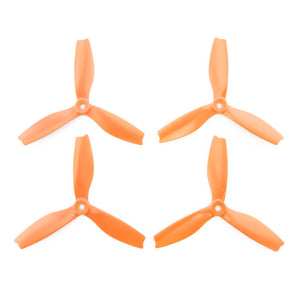HQProp DPS Orange 5x4x3 Propeller - 3 Blade (Set of 4 - Nylon)