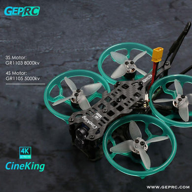 GEPRC Cineking 4K 95mm 2-4S Caddx Tarsier Camera 1103 1105 Brushless Motor F4 12A Flight Controller DIY FPV Racing Drone