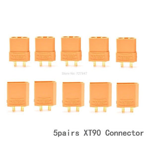 5 Pairs/lot XT30 XT30U XT30UPB / XT60 / XT90 / T plug / MPX / EC2 EC3 EC5 Bullet Connector Male / Female for FPV RC Lipo Battery
